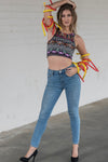 Tribal Multicolor Gypsy Crop
