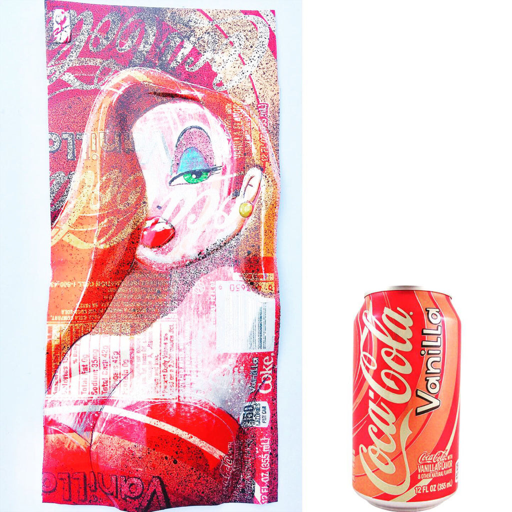 Chris Duncan Signed Original Mixed Media upcycled vanilla Coke can
