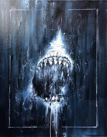 Great-White-Daniel Hooper-Oil-Painting-Shark