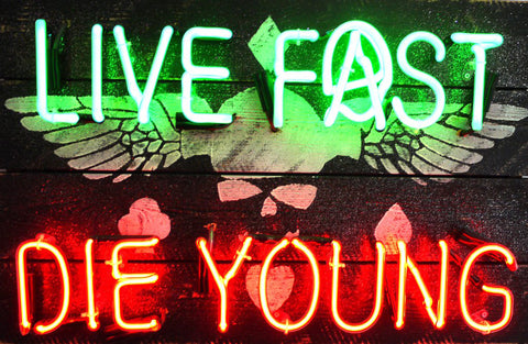 Live Fast Die Young Illuminati Neon Mark Sloper