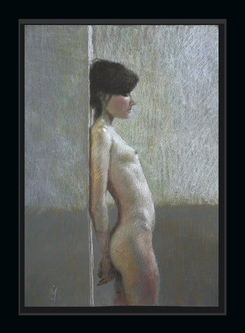 Young Woman in Profile Pastel Nigel Mason