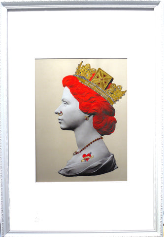Baby Red Queen Illuminati Neon Signed limited edition Giclée with 24 ct gold leaf and crystal embelishments 81 x 56cm