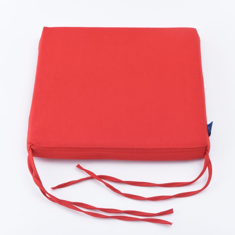 Nệm ngồi 455 Bright Red Canvas Square Seat Pad 45x45x5cm (Đỏ)