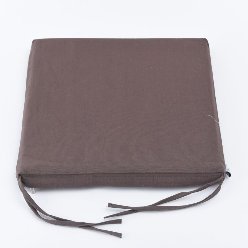 Nệm ngồi 405 Dark Brown Canvas Square Seat Pad 40x40x5cm