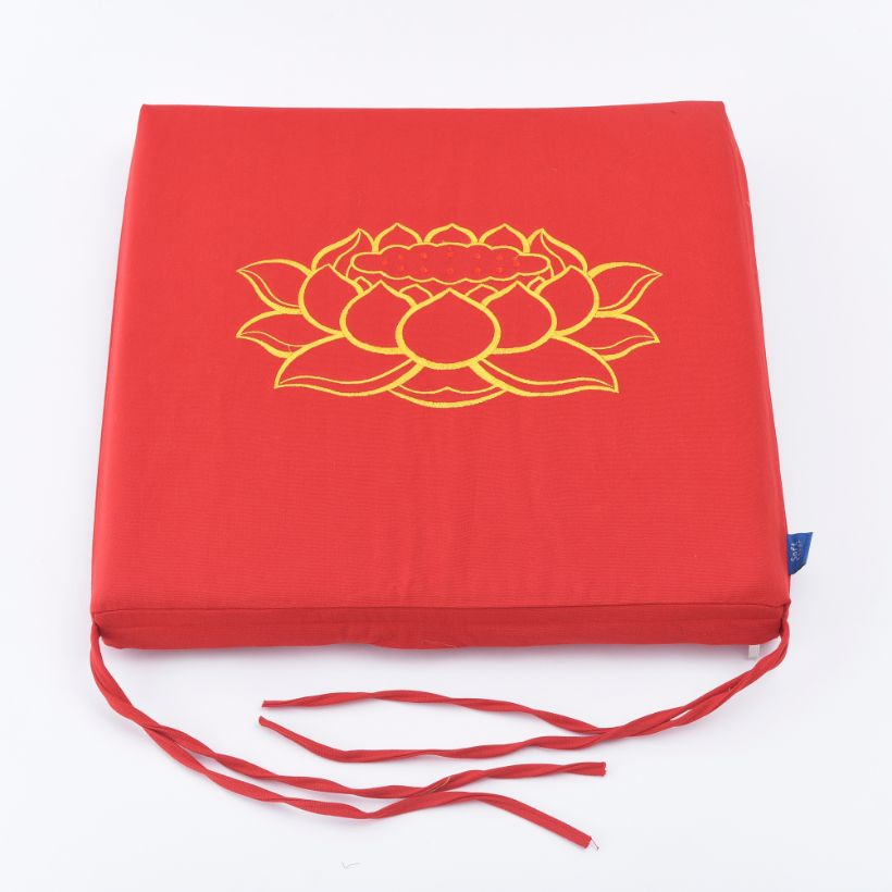 Nệm Ngồi Thiền 405 Red Fire Lotus Square Seat Pad (Red)