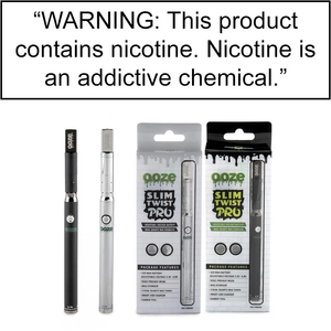 OOZE SLIM TWIST PRO PEN 2 in 1 VAPORIZER - 510 BATTERY