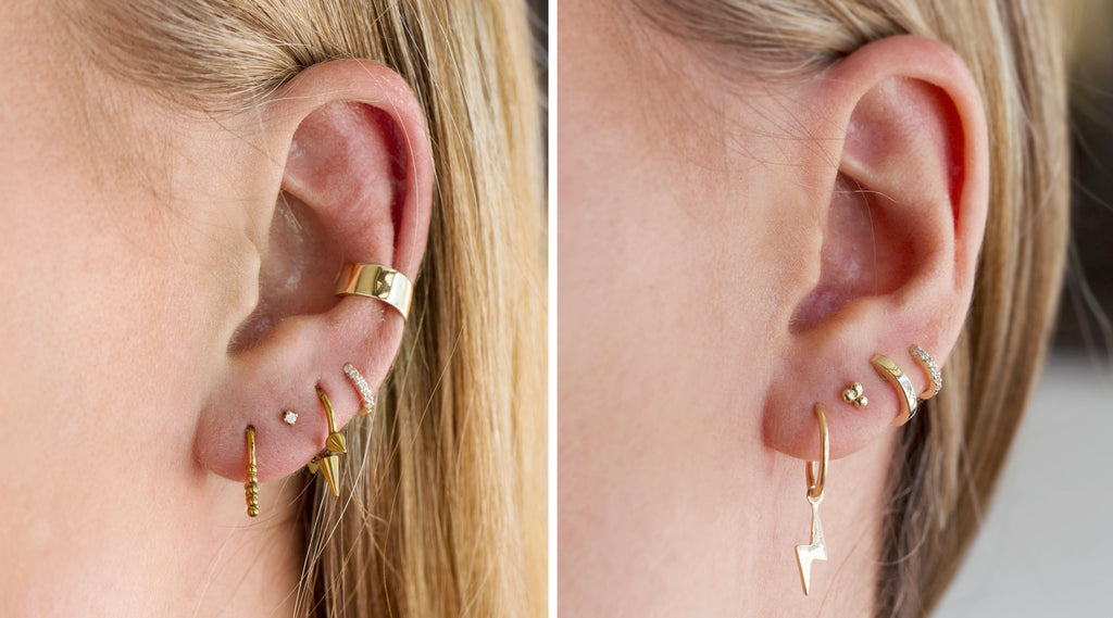 Pierced and curated ear