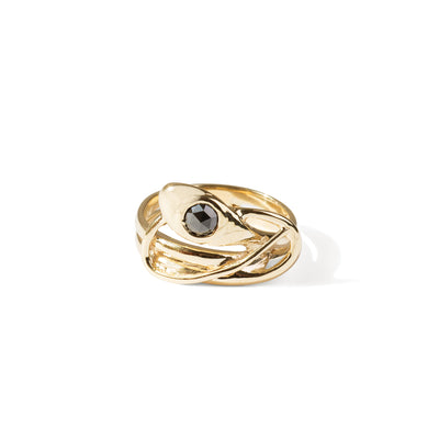 The Black Diamond Snake Ring-Ring-Black Betty Design