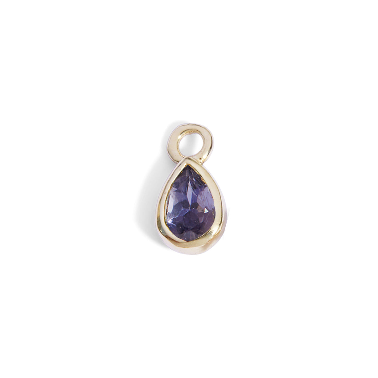 The 6x4 Pear Cut Iolite Charm in 9kt Gold-Labrets & Piercing-Black Betty Design