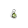The 6x4 Pear Cut Green Tourmaline Charm in Silver-Labrets & Piercing-Black Betty Design