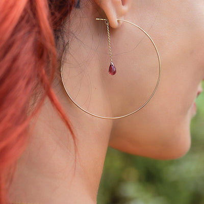 The Garnet Loops-Earrings-Black Betty Design