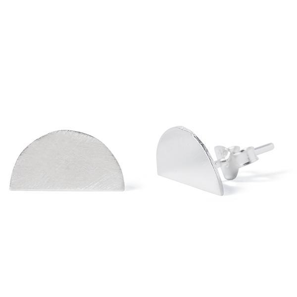 The Sunset Stud in Silver-Earrings-Black Betty Design