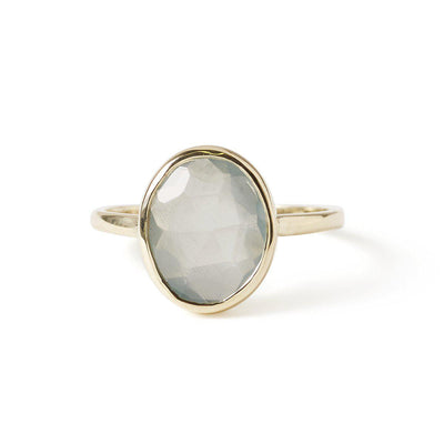 The Faceted Oval Gemstone Ring-Ring-Black Betty Design