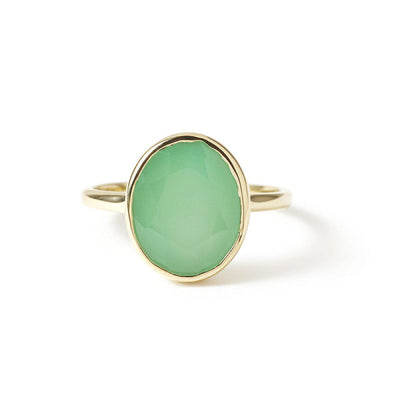 The Faceted Oval Gemstone Ring