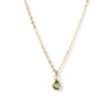The 6x4 Pear Cut Stone Necklace in 9kt Yellow Gold-Necklace-Black Betty Design