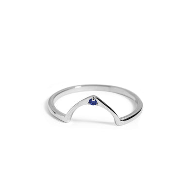 The Wishbone Sapphire Ring in Silver-Ring-Black Betty Design