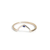 The Wishbone Sapphire Ring in Gold-Ring-Black Betty Design
