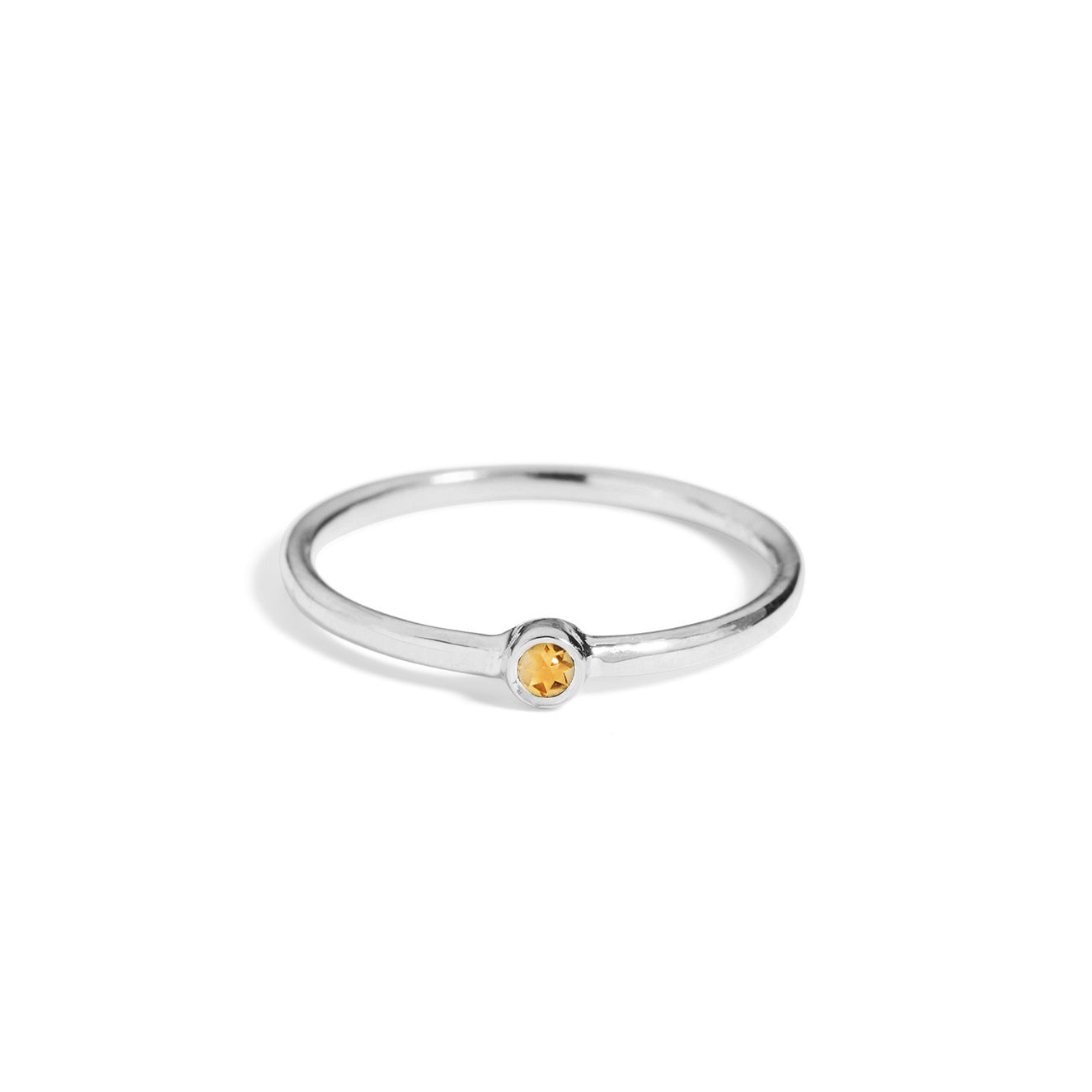 The Mini Citrine Stacker in Silver-Black Betty Jewellery Design, South Africa