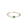 The Mini Emerald Stacker in 9kt Gold-Black Betty Jewellery Design, South Africa