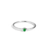 The Mini Tsavorite Stacker in Silver-Black Betty Jewellery Design, South Africa