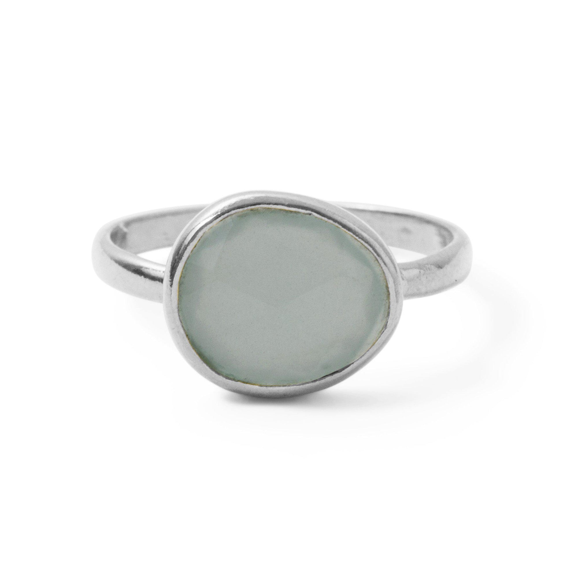 The Polki Gemstone Ring in Silver-Ring-Black Betty Design
