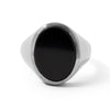 The Black Onyx Oval Signet Ring in Silver
