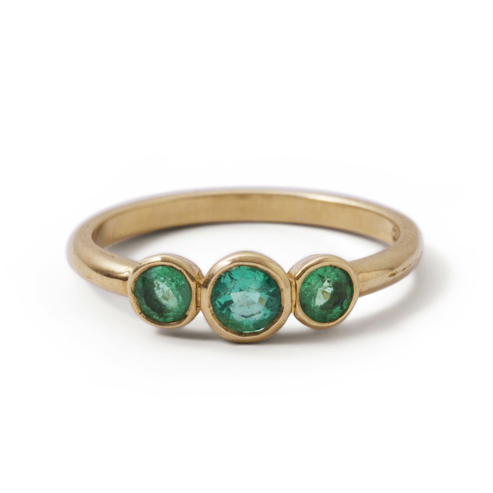 The Trio Emerald Ring-Ring-Black Betty Design