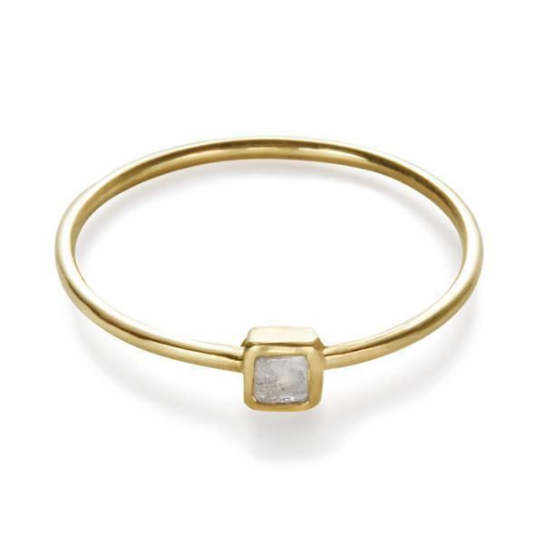 Mini Square Polki Diamond on a Ring