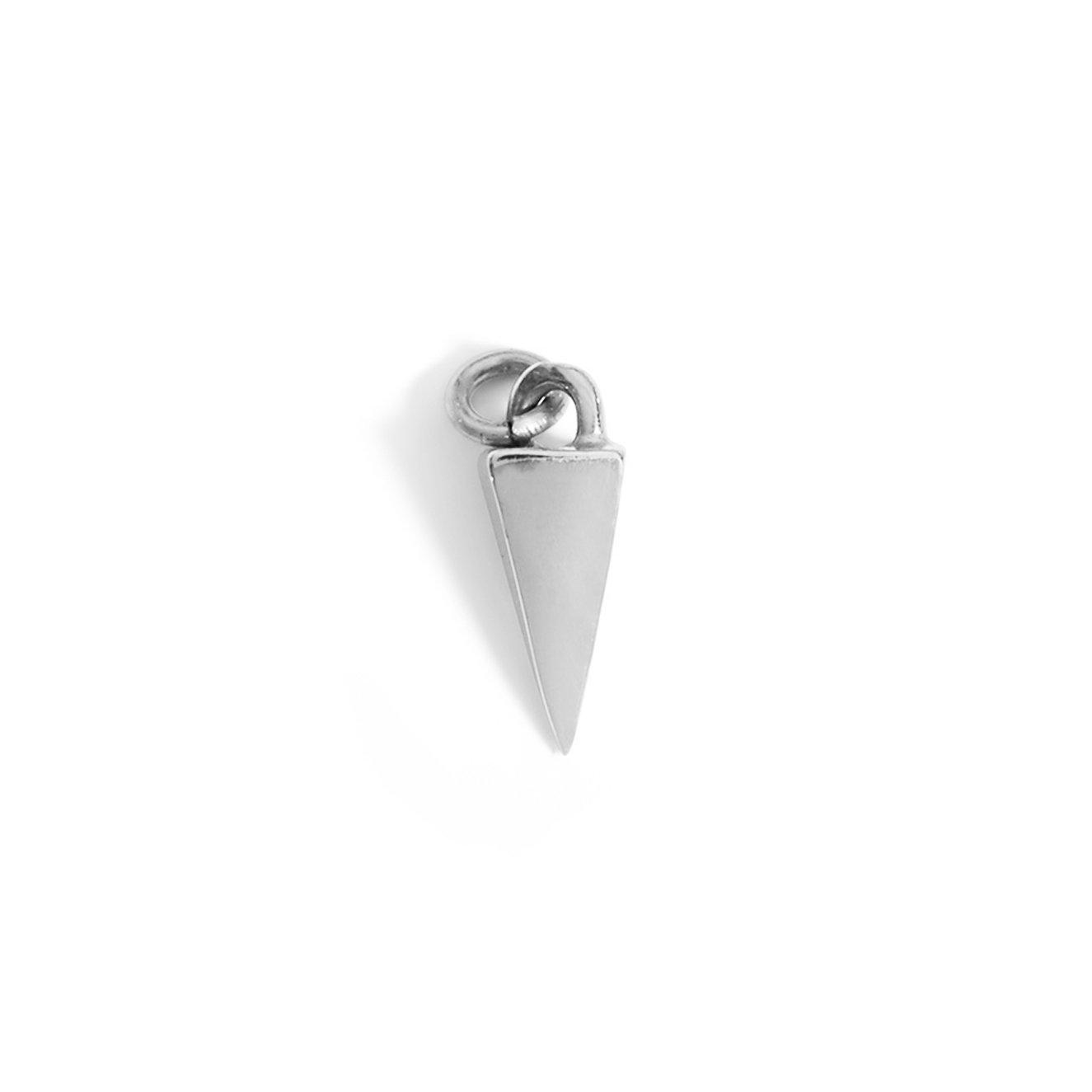 The Pyramid Drop Charm in Silver-Pendant-Black Betty Design
