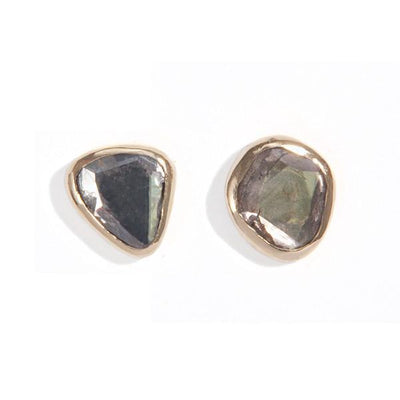 The Polki Studs-Earrings-Black Betty Design