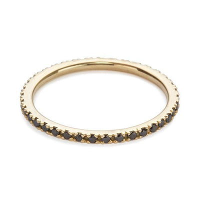 The Ultra Light Eternity Band in Black Diamond-Ring-Black Betty Design