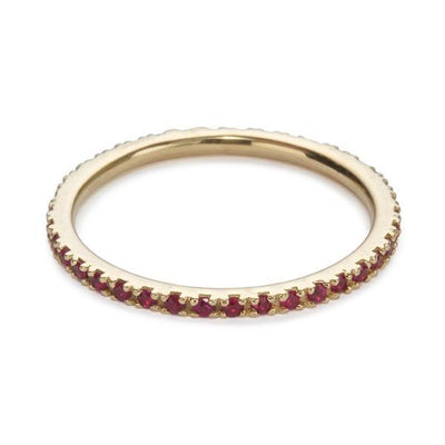 The Ultra Light Eternity Band in Ruby
