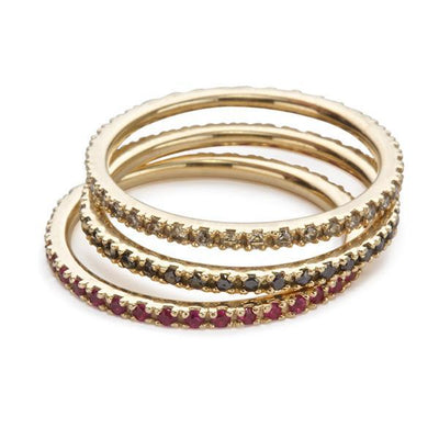 The Ultra Light Eternity Band in Ruby-Ring-Black Betty Design