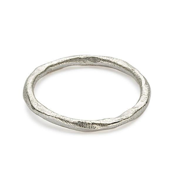 The Brushed Band in Silver-Ring-Black Betty Design