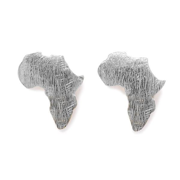 THE SILVER AFRICAN STUD EARRINGS