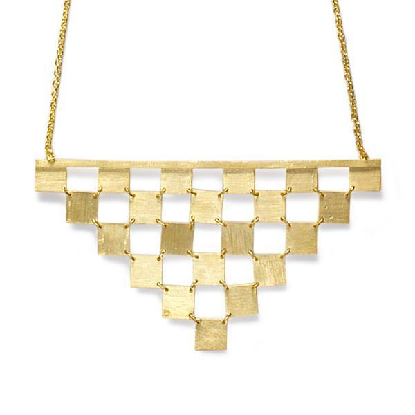 The Tumbling Block Necklace-Necklace-Black Betty Design