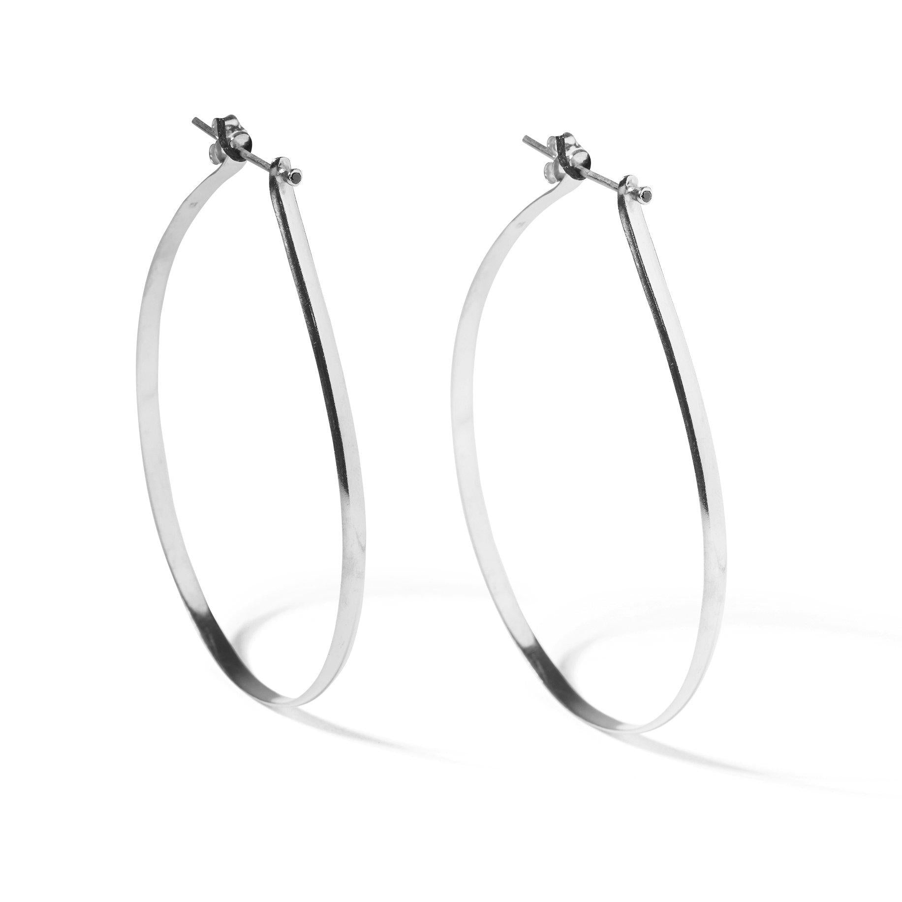 The Silver Spiked Hoops-Earrings-Black Betty Design