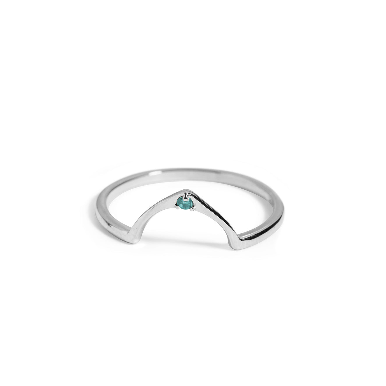 The Wishbone Blue Topaz Ring in Silver-Black Betty Jewellery Design, South Africa