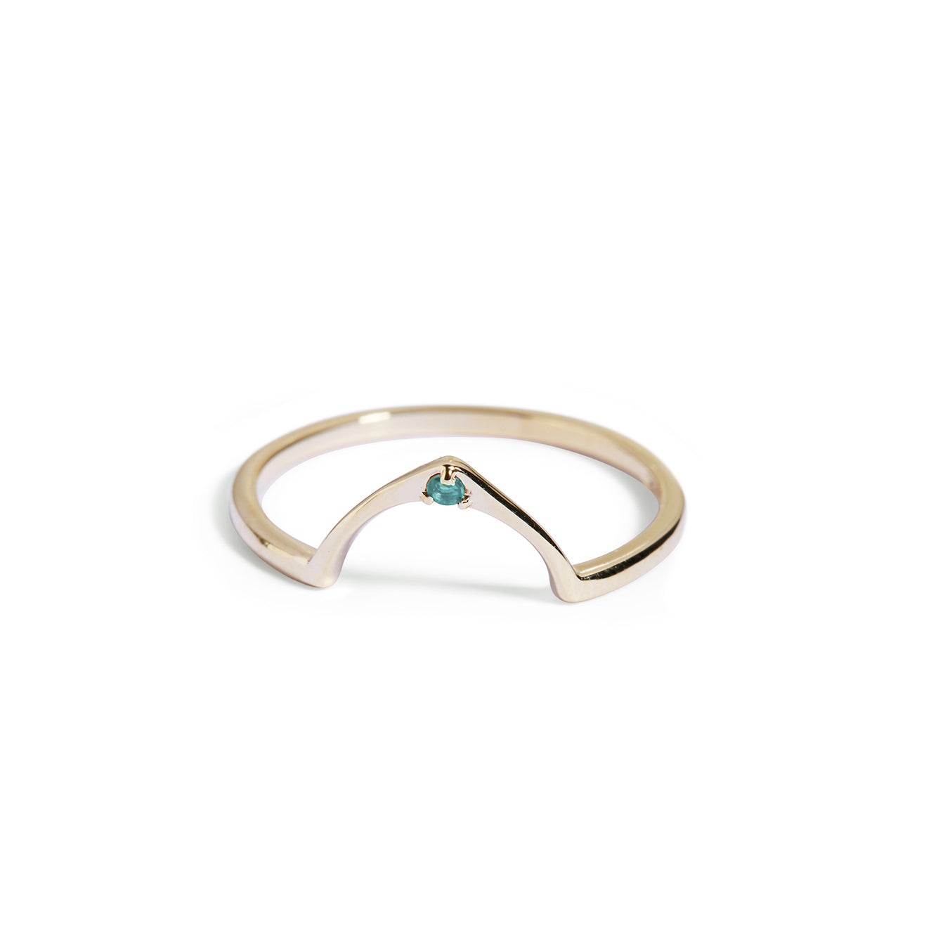 The Wishbone Blue Topaz Ring in Gold-Black Betty Jewellery Design, South Africa