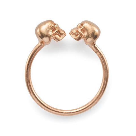 The Gold Kissing Skull Ring