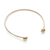 The Gold-Plated Skull Cuff-Bracelet / Bangle-Black Betty Design