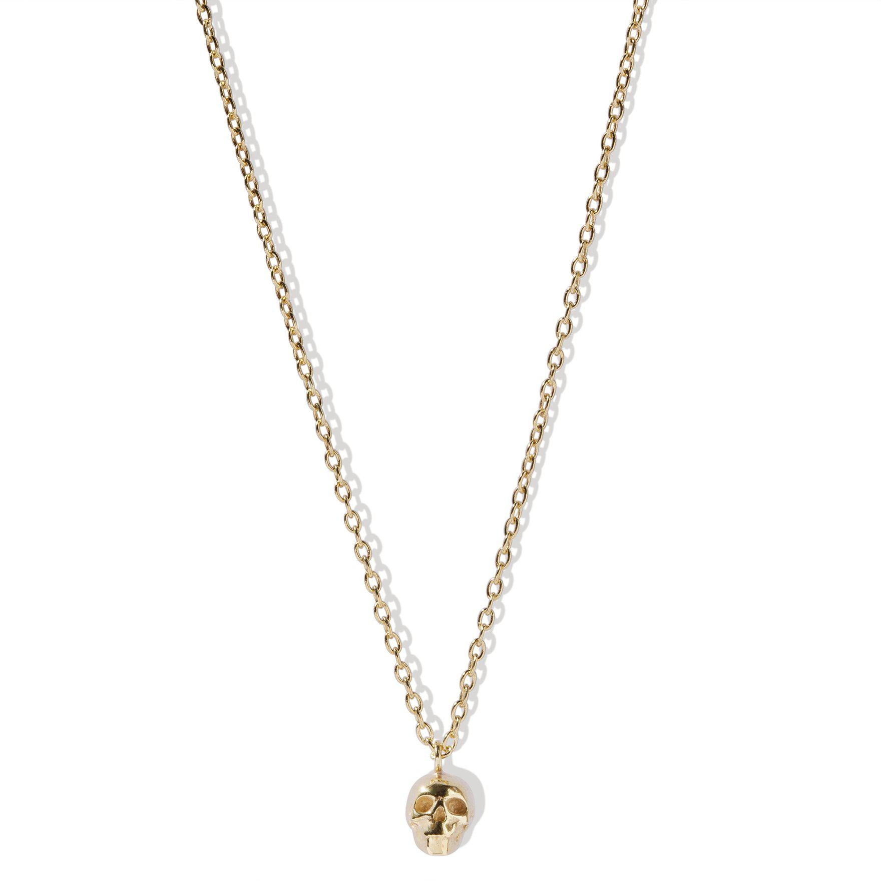 The Single Skull Necklace - Gold Plated