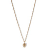 The Single Skull Necklace in 9ct Gold-Necklace-Black Betty Design