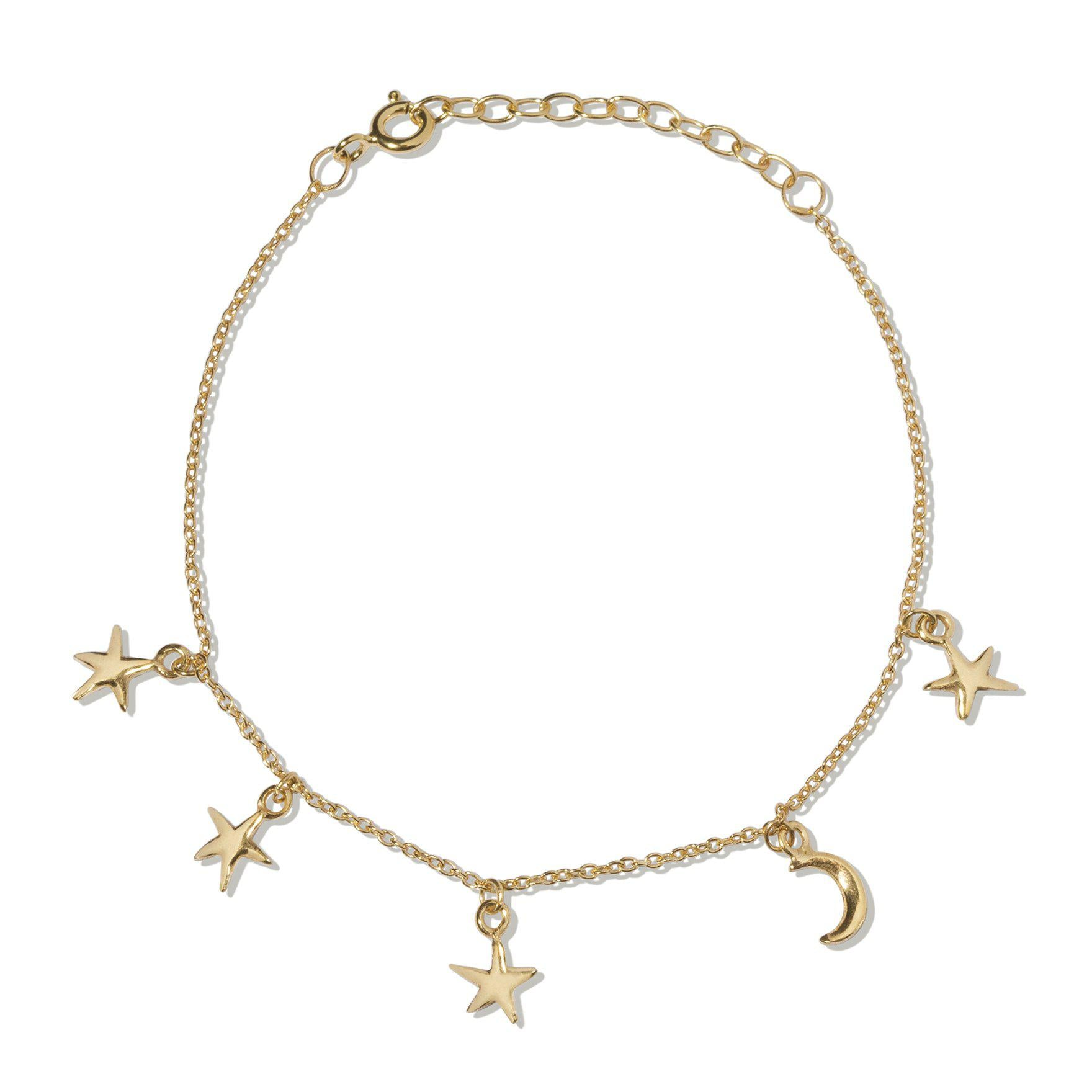 The Starry Night Bracelet - Gold Plated-Bracelet / Bangle-Black Betty Design