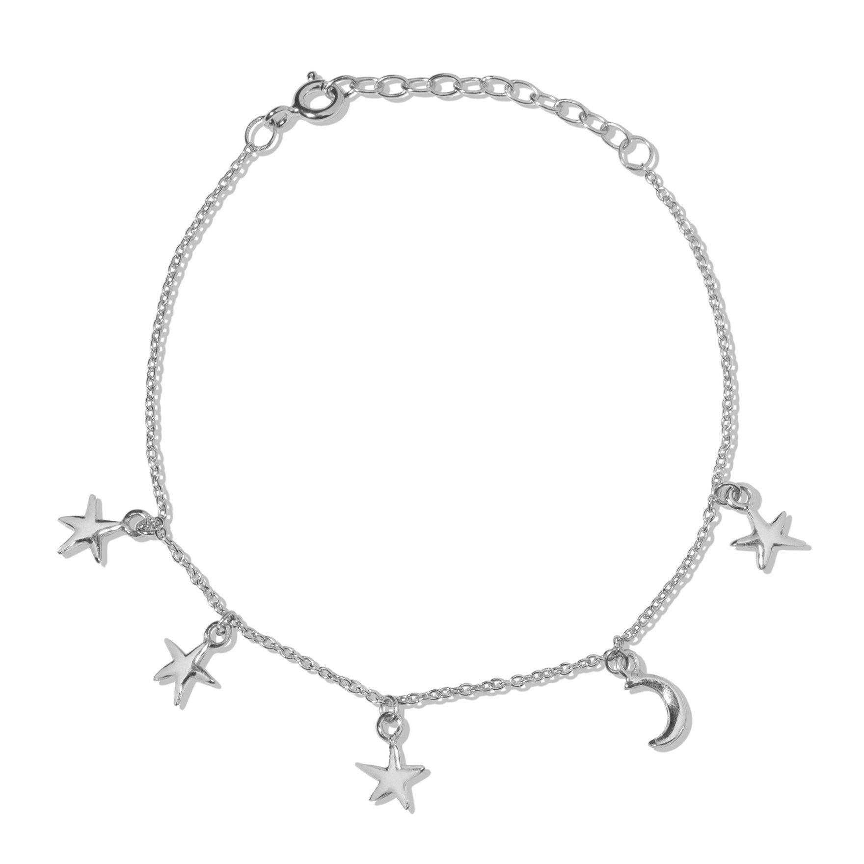 The Starry Night Bracelet in Silver-Bracelet / Bangle-Black Betty Design