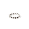 The 2.3 Spinel Infinity Band-Ring-Black Betty Design