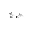 The Silver Mini Prong Set Stone Stud-Earrings-Black Betty Design