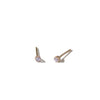 The 9kt Yellow Gold Mini Prong Set Stone Stud-Earrings-Black Betty Design