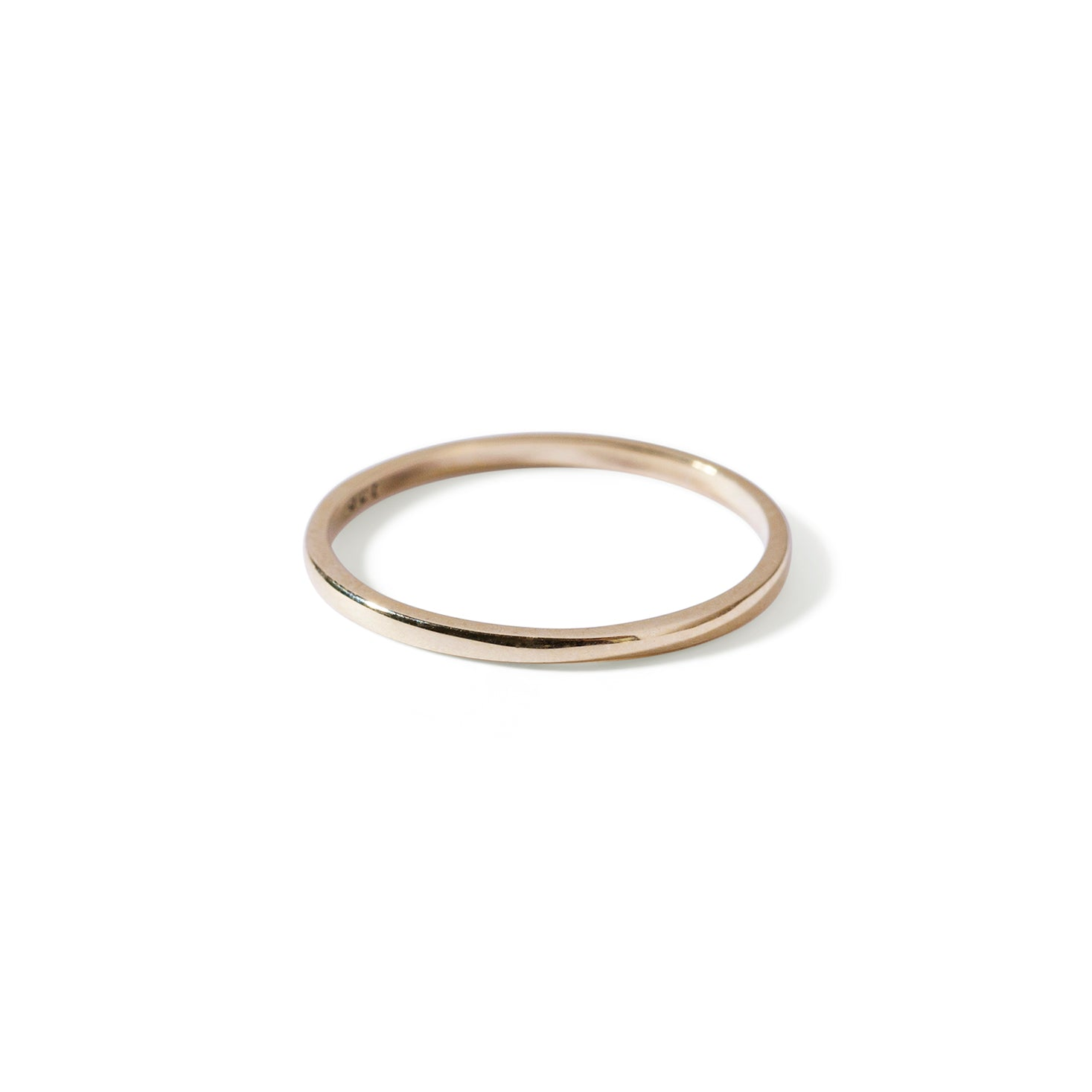 The Simple Stacking Band in Yellow Gold-Ring-Black Betty Design