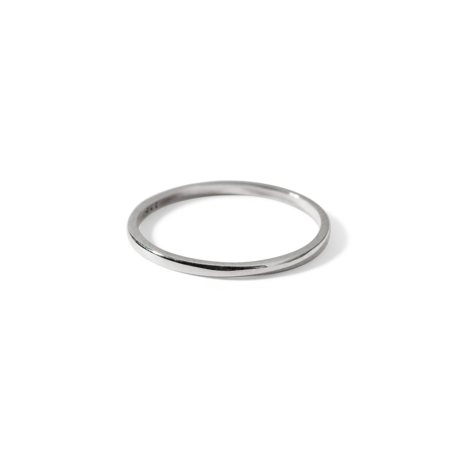 The Simple Stacking Band in White Gold-Ring-Black Betty Design